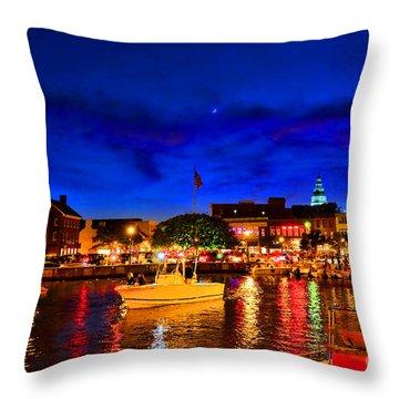Annapolis Magic Night Throw Pillow
