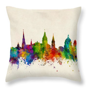 Throw Pillow featuring the digital art Annapolis Maryland Skyline by Michael Tompsett
