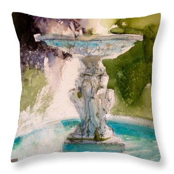 Throw Pillow featuring the painting Anna's Fountain by Sandra Strohschein