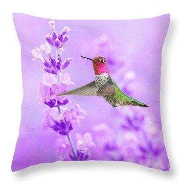Annas Hummingbirds Throw Pillows