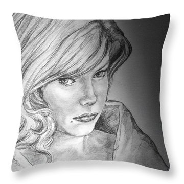 Anne Francis Throw Pillow by Bryan Bustard