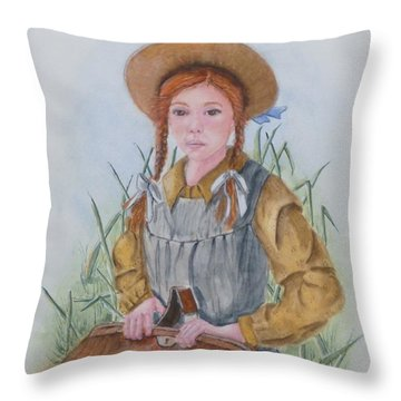 Anne Of Green Gables Throw Pillow