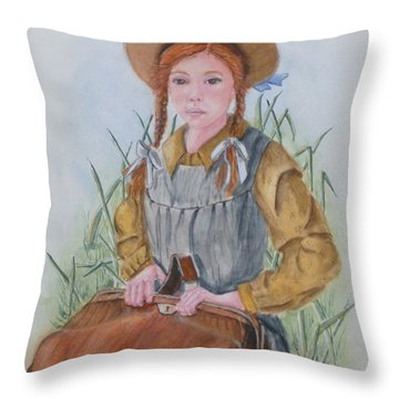 Anne Of Green Gables Throw Pillow by Kelly Mills