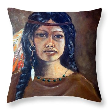 Anne Wolfe Throw Pillow