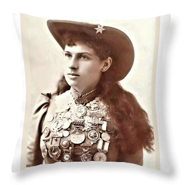 Annie Oakley 1 Throw Pillow