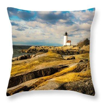 Annisquam Harbor Light Throw Pillow