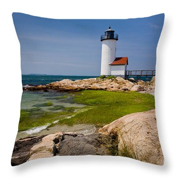 Annisquam Harbor Light Throw Pillow