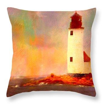 Annisquam Rainbow Throw Pillow