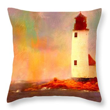 Annisquam Rainbow Throw Pillow