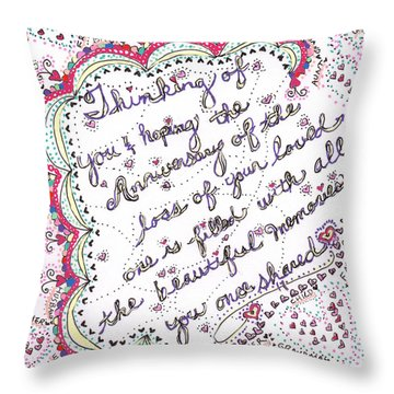 Anniversary Memorial Throw Pillow