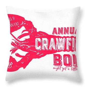 Annual Crawfish Boil Poster Throw Pillow
