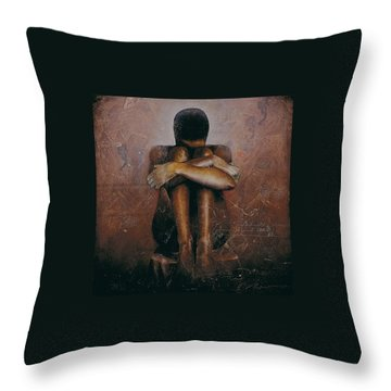 Annunciation / Mary Throw Pillow by Christopher Marion Thomas