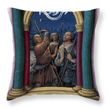 Annunciation To Shepherds Throw Pillow by Granger