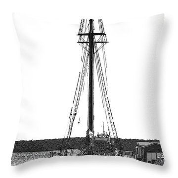 Anomaly Ship Poster Throw Pillow