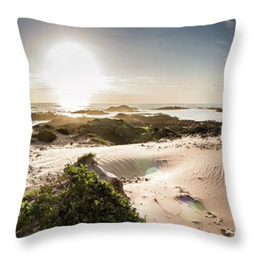 Another Beach Sunset Throw Pillow