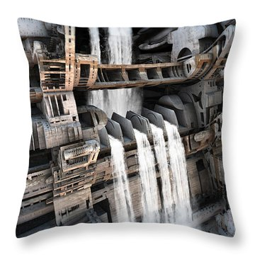 Another Bloody Dam Throw Pillow