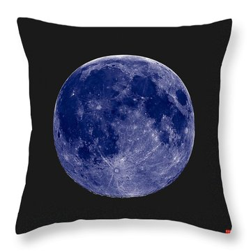 Another Blue Moon Throw Pillow