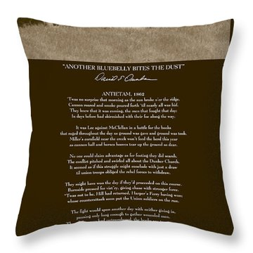 Another Bluebelly Bites The Dust W Poem Throw Pillow by David Dunham