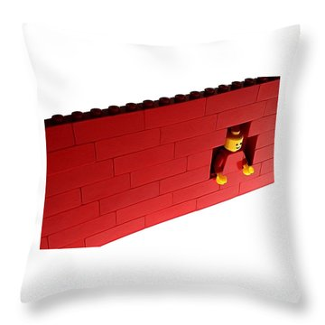 Throw Pillow featuring the photograph Another Brick In The Wall by Mark Fuller