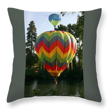 Another Bright Idea Throw Pillow by Marie Neder