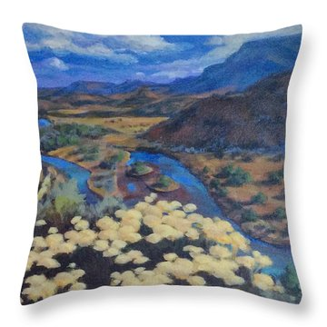 Another Day Above Rio Chama Throw Pillow