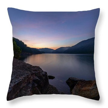 Another Day At Windy Bay Throw Pillow