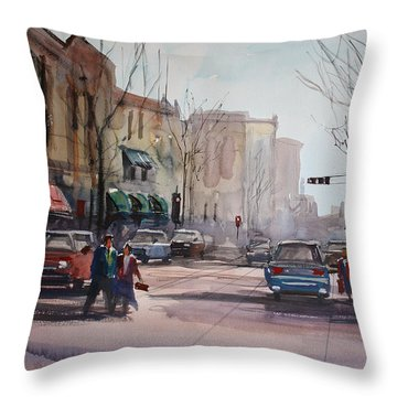 Another Day In Fond Du Lac Throw Pillow by Ryan Radke