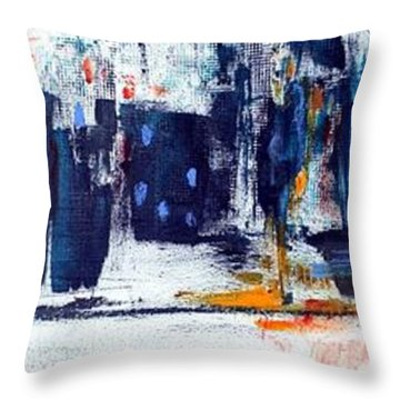Another Day In New York City Throw Pillow