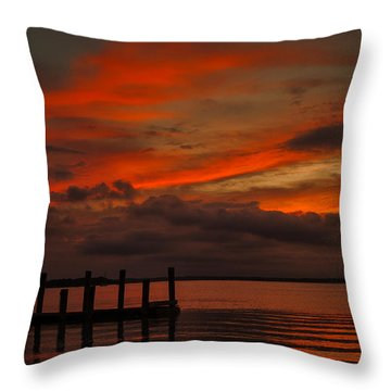 Another Day Is Done Throw Pillow