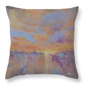 Another Dimension Throw Pillow by Laura Lee Zanghetti