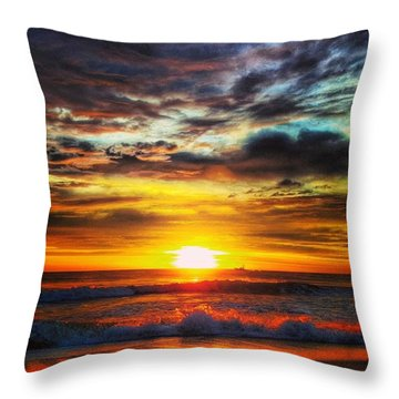 Morning Sunrise Throw Pillow by Lauren Fitzpatrick