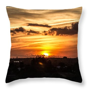 Another Gorgeous Sunset Throw Pillow by Nance Larson