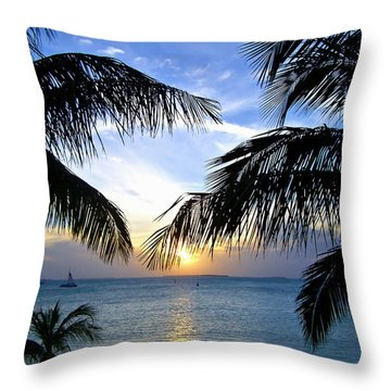 Another Key West Sunset Throw Pillow by Joan  Minchak