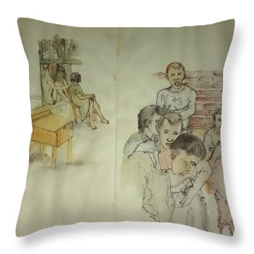 Another Look At Mental Illness Album Throw Pillow