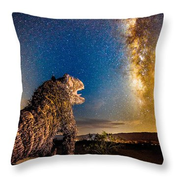 Another Monster At Borrego Springs Throw Pillow
