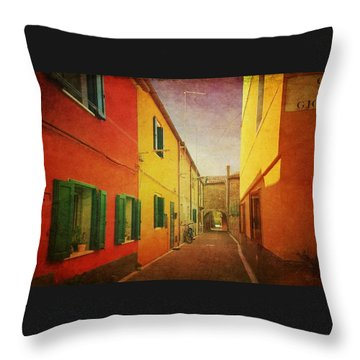 Throw Pillow featuring the photograph Another Morning In Malamocco by Anne Kotan