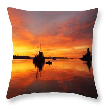 Another Morning Throw Pillow by Mark Alan Perry