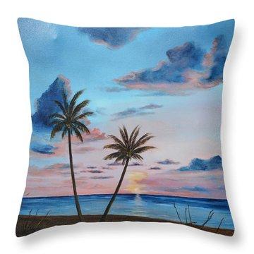 Another Paradise Sunset Throw Pillow