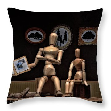 Another Recounting Of The Woody Family History Throw Pillow
