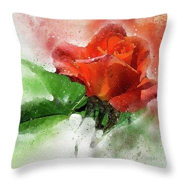Another Rose Throw Pillow