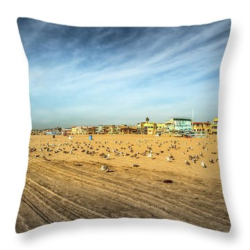 Another Seagull Afternoon Throw Pillow