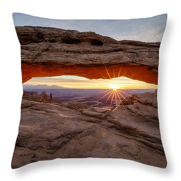 Another Sunrise At Mesa Arch Throw Pillow