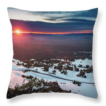 Throw Pillow featuring the photograph Another Sunset At Crater Lake by William Lee