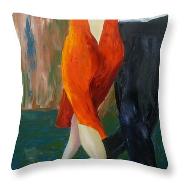 Another Tango Twirl Throw Pillow