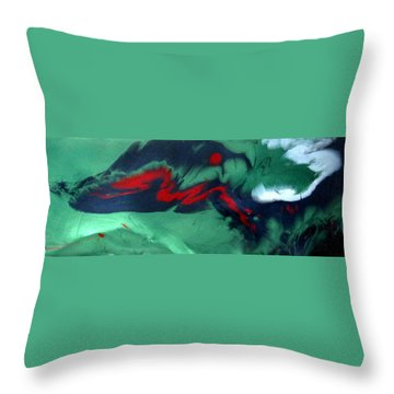 Throw Pillow featuring the painting Another Time, Another Place by Mary Kay Holladay