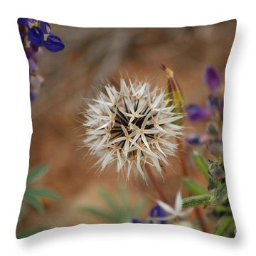 Another White Flower Throw Pillow