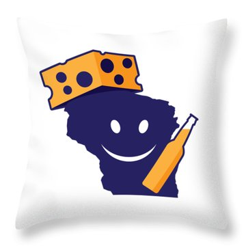 Another Wisconsin Tailgator Throw Pillow