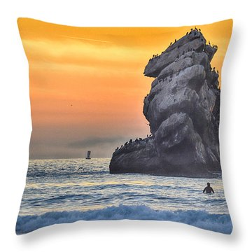 Another World Throw Pillow by AJ Schibig