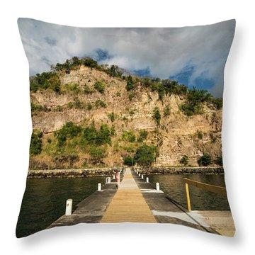 Ans Chastanet Pier Hillside Saint Lucia Throw Pillow