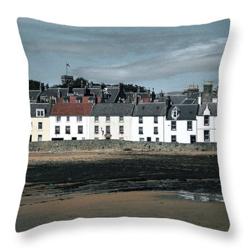 Anstruther Beach Throw Pillow